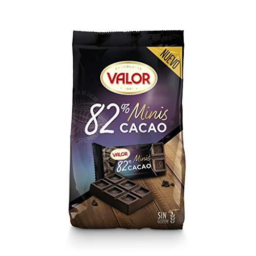 Chocolates Valor - Minitabletas 82% Cacao, 19 Tabletas de 9 gr, Total: 171 gr
