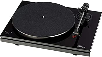 Music Hall MMF-3.3 Dual-Plinth Turntable with 2M Red Cartridge  Gloss Black