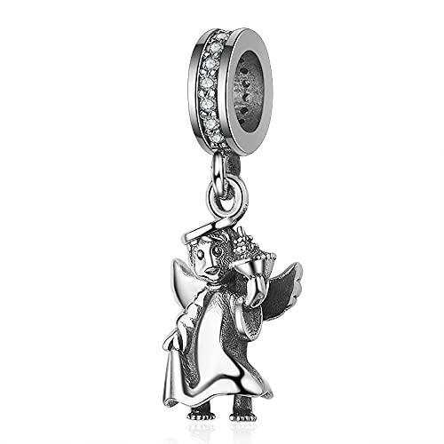 Pandora 925 colgante de plata esterlina Diy plata esterlina ángel de la guarda cuentas del encanto Fit Pandora mujeres pulseras joyería de moda para regalo de mujer