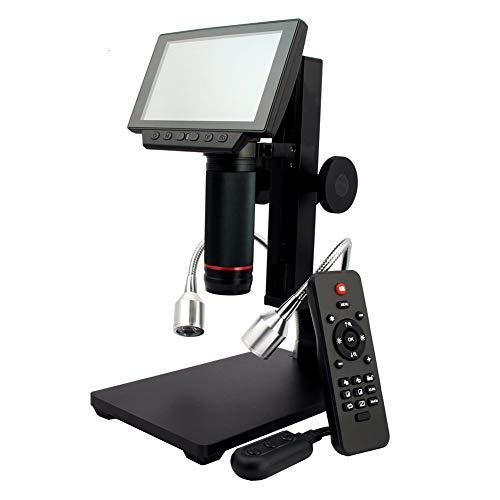 15-centymetrowy mikroskop cyfrowy na dużym ekranie, z pilotem i regulowanym światłem, aparat ze szkła spawalniczego do naprawy płytek drukowanych