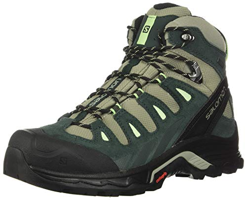 Salomon Quest Prime GTX W, Botas de Senderismo para Mujer, Gris (Shadow/Green Gables/Patina Green), 38 EU