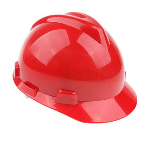 SDENSHI Casco de Seguridad Casco Duro Cuna Venitex Gorra Protectora Contra Golpes de Ala Completa 2 Colores - rojo