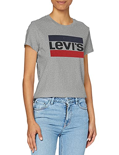 Levi's The Perfect Tee T-Shirt, Sportswear Logo Smokestack Htr, M Donna