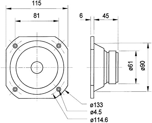 Visaton 2103 Lautsprecher Frs 10 Wp 8 Ohm Weiß Elektronik