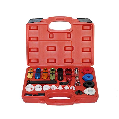 A ABIGAIL Master Quick Disconnect Tool Kit 22 pcs for Automotive AC Fuel Line and Transmission Oil Cooler Line, Type Remover Included, fit for Most Ford Chevy GM Models Scissor
