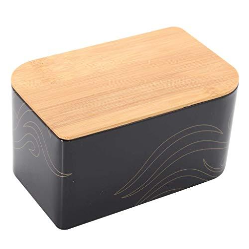 Rétro gain de place grande cuisine verticale bin bac à pain conteneur de stockage de pain pot à pain avec couvercle en bambou