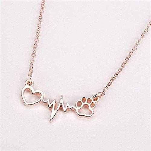 ZJJLWL Co.,ltd Collar Collar de aleación para Mujer Collares y Colgantes Gargantilla con Colgante de Cristal de Color Dorado para Regalo de Mujer