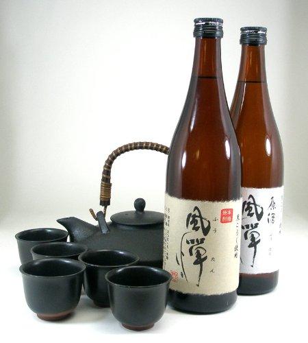 黒千代香セット5客ツル付限定品 本格芋焼酎 風憚(ふうたん)2本セット720ml