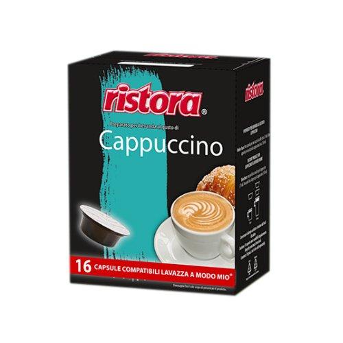 32 Capsule Cialde Ristora Compatibili Lavazza a Modo Mio Cappuccino