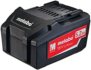 Metabo 625592000 18 V 5.2 Ah Li-Ion Power Extreme Battery