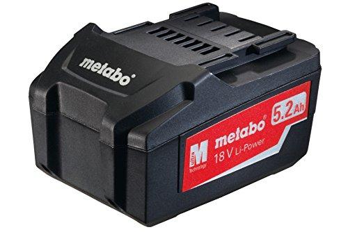 Metabo Akkupack 18 V, 5,2 Ah, Li-Power,