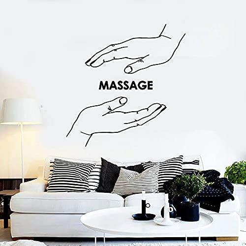 Masaje calcomanías de pared centro de spa mano salón de belleza tiempo de relajación tratamiento de salud decoración de la habitación puertas y ventanas ventanas pegatinas de vinilo murales de arte
