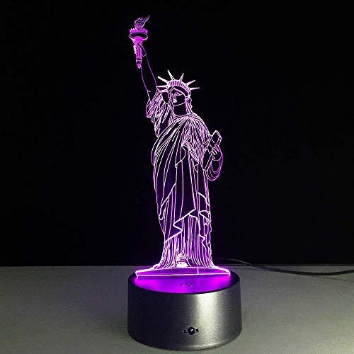 Nachtlichter freiheitsstatue led nachtlicht usb 7 farben veränderbar stimmung lampe schlafzimmer tischlampe kinder freunde familie geschenke
