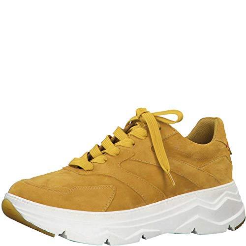 s.Oliver Damen Schnürhalbschuhe 23656-24, Frauen sportlicher Schnürer, Sneaker freizeitschuh Ugly-Sneaker dad-Shoe weibliche,Yellow,39 EU / 6 UK