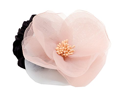 Fashion Gauze Femme Girl Flower Design Ponytail Holder Cravate Cheveux