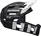 BELL Super Air - Casco para Hombre, Fasthouse Matte Black/White, L