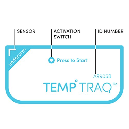 TempTraq 24-Hour Intelligent Baby Fever Monitor with Wireless Alerts (iOS & Android) - FDA-Cleared...
