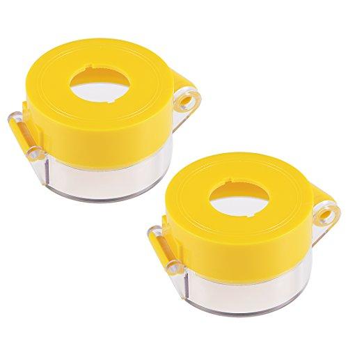 sourcing map 2pcs Gelb Plastik Schalterabdeckung Schutz für 22mm Durchmesser Druckschalter DE de
