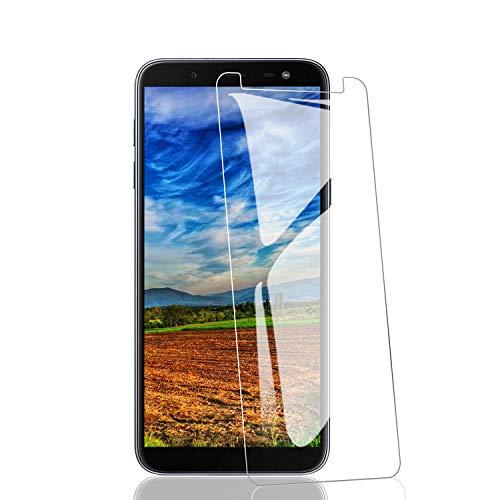 RIIMUHIR Protezioni per Lo Schermo per Samsung Galaxy J6 [3 Pezzi], Pellicola Vetro Temperato 9H Durezza, Protettiva in Vetro Temperato per Samsung Galaxy J6 [Copertura Completa], Trasparente