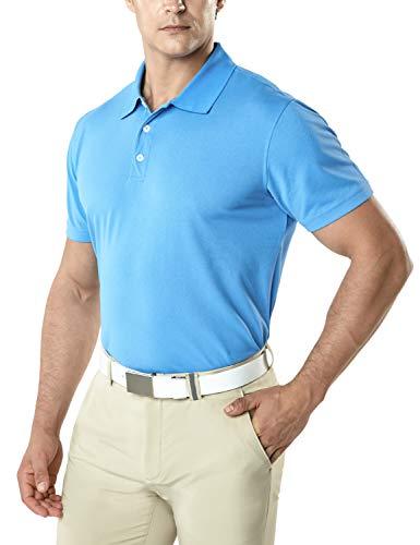TSLA Herren Kurzarm Poloshirt, Premium Regular Fit Quick Dry Hi-Flex Active Tech Polohemd, Mtk10 1pack - Sea Blue, 3XL