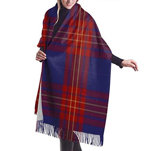 Butler Fashion Tartan Herren und Damen Winter Langer Kaschmirschal Schal Wild Weiche Wolle Volle Breite Einseitiger Druck 27inx77in