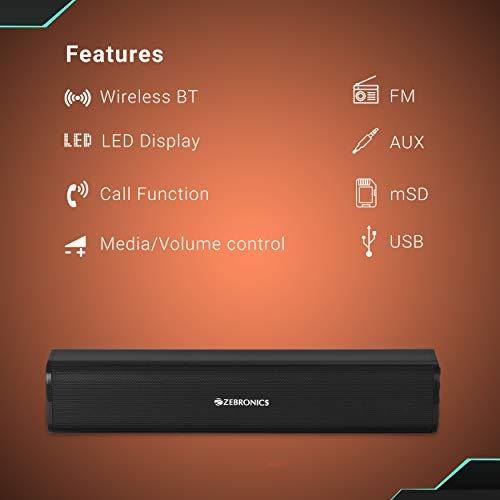 Zebronics Vita Plus Portable Speaker Supporting Bluetooth, FM, SD Crad, Aux(Black)