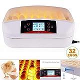 HANYF Incubatrice, 50 * 25 * 40Cm Digitale 32 Incubatrice, Il Controllo Automatico della Temperatura Conversione, Adatto per Zootecnia
