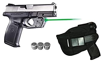 Laser Kit for S&W Smith-Wesson Sigma SW9VE SW40VE SW9E SW40E SW9G SW40G w/ Holster Touch-Activated ArmaLaser TR15-G Green Laser Sight & 2 Extra Batteries  NOT fit SD9VE/SD40VE