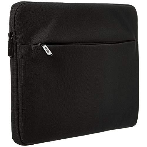Funda para portátil de Amazon Basics con bolsillo frontal, 33 cm, negro