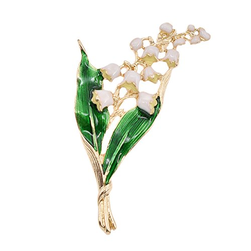 TOOGOO Broche a Feuilles Florales Blanc en Email en Alliage