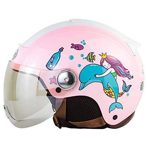 Hammock Vintage Casco Moto Abierto,Retro Cascos Half-Helmet con Visera,ECE Homologado,para Adultos Mujer y Hombre Street Bike Cruiser Chopper Moped Scooter Moto Jet Cascos F,XL=61~62cm