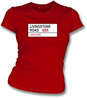 Livingstone Road BB5 Women's Slimfit T-Shirt Accrington Stanley