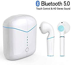 Bluetooth Headset 5.0, Wireless Headset P20-TWS Mini Headset, 3D Surround Sound Sports Headset with Charging Box Microphone for iOS and Android Huawei Samsung iPad Sony HTC