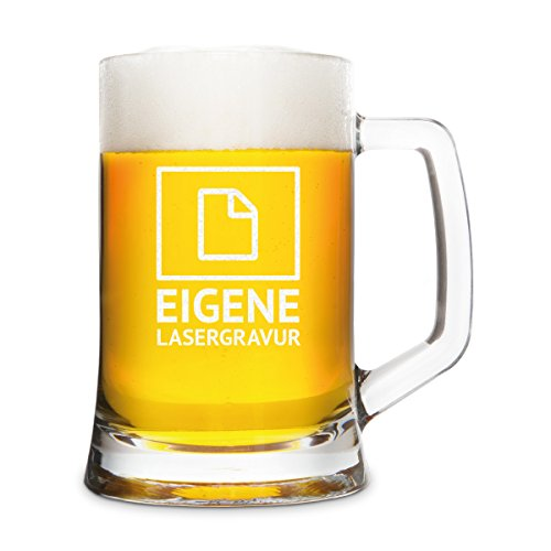 Montana bierglas met individuele gravure - keuze van motieven - bierpul 0,5 L