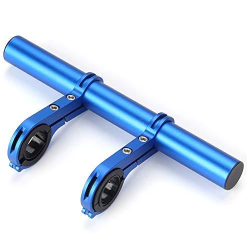 Extensión de manillar de bicicleta 20cm extensión de bicicleta manillar de carbono titular del soporte de la linterna de la barra MTB Accessories Extender Mount Soporte Scooter de bicicleta de carrete