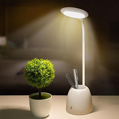 Lyy Lampe de LED avec Le récipient de Stylo Étude de Chambre à Coucher multifonctionnelle Apprendre la Lampe de Protection d'oeil