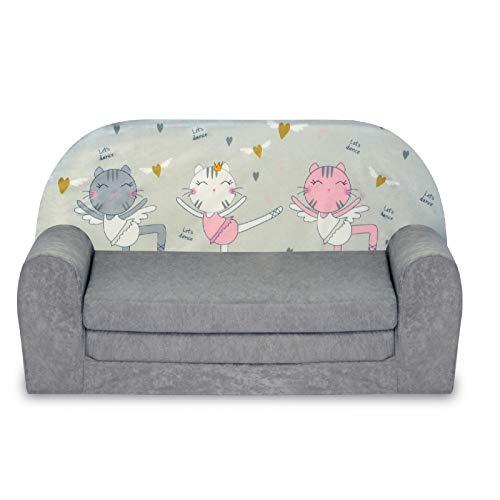 FORTISLINE Kindersofa Mini zum Aufklappen Kätzchen W386_45
