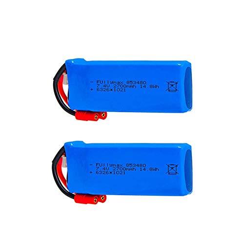 GzxLaY Batteria Lipo 2700mAh 7.4v per Syma X8W X8C X8G X8HC X8HW X8HG RC Quadcopter Drone Ricambi-2PCS_C