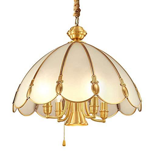 WNN-L Lámparas de montaje empotrado, luz de techo Lámparas en el campo, luces colgantes rústicas for Living Room Bar Cafetería Comedor titular de habitaciones espiral de la lámpara E14 de Cobre WNN-L