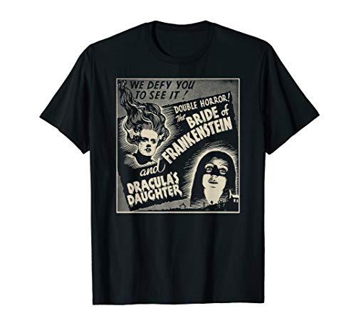 Halloween Monster Poster Horror Movie Dracula Frankenstein T-Shirt