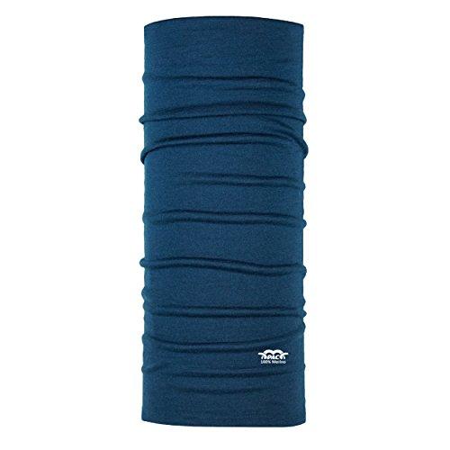 P.A.C. Merino Wool Navy Multifunktionstuch - Merinowoll Schlauchtuch, Halstuch, Schal, Kopftuch, Unisex, 10 Anwendungsmöglichkeiten