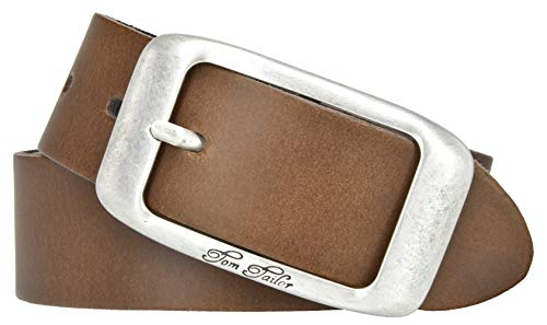 TOM TAILOR Damen Gürtel used cow leather belt cognac 95