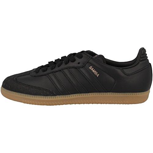 Adidas Samba W, Zapatillas de Deporte Mujer, Negro (Negbas/Negbas / Gum4 000), 38 EU