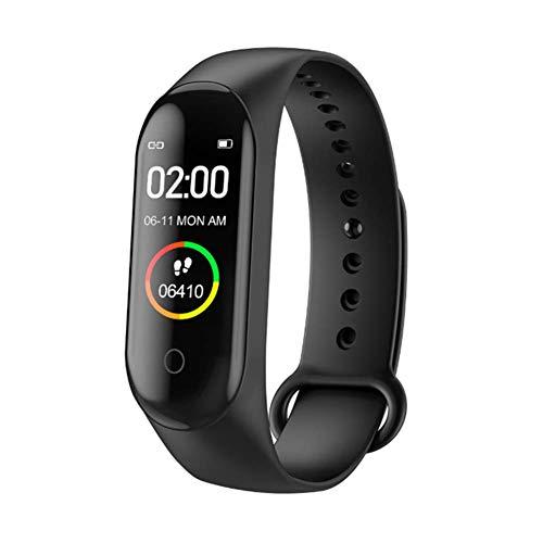 JJ. Reloj Inteligente de Pulsera Deportivo con Monitor de presión Arterial, Pulsera de Salud para Hombres y Mujeres, 42.00, Color Negro