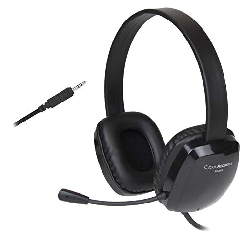 Stereo Headset with Unidirectional Noise-Canceling Microphone. Compatible with PC's, Macs, Chromebooks, Microsoft Surface, Tablets, Smartphones, and Most Gaming Systems) (AC-6008)