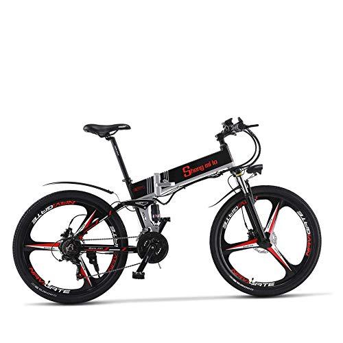 Electric Bicycle Bicicleta Eléctrica Eléctrico Bicicleta de Montaña 26 Pulgadas Neumático Gordo,21...