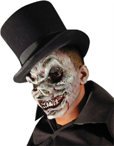 fx the halloween masks Rubie's Reel FX Skeleton Theater Quality Make Up Costume Mask White