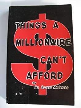 Unknown Binding Things a millionaire can't afford Book
