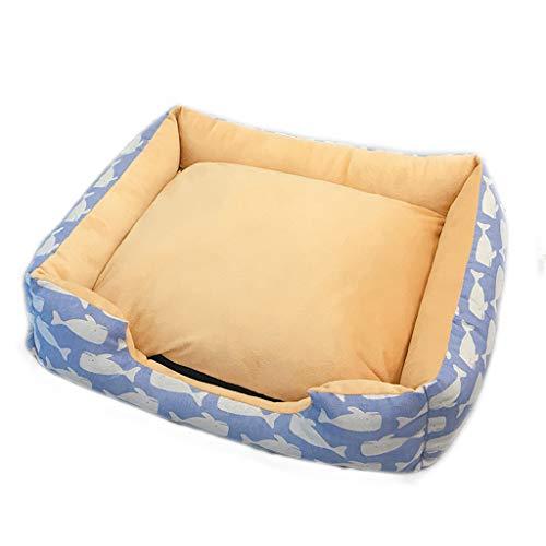 Liuyu Maison de la vie matras, blauw, dik, voor huisdieren, oven, seasons, universeel, afneembaar, wasbaar, klein en medium, linnen, voor honden, katten, matras Villa, warm