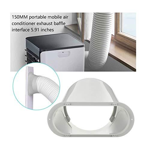 2020 Upgrade PVC Fensterabdichtung Für Mobile Klimageräte und Abluft-Wäschetrockner, Für Abluftschlauch Durchmesser 15cm/ 5,91 Zoll
